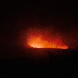 Volcano by day, volcano by night